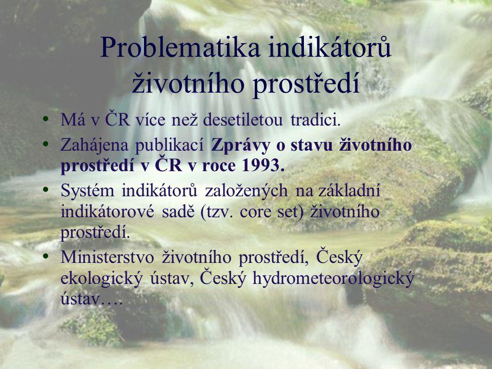 Problematika indikátorů životního prostředí
