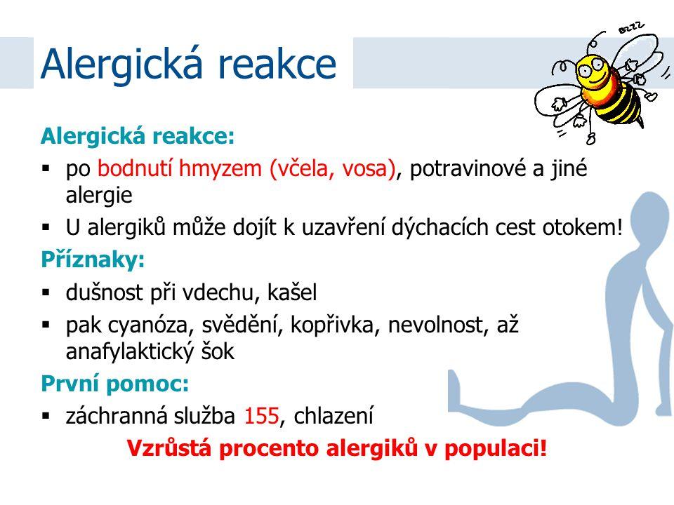 Vzrůstá procento alergiků v populaci!