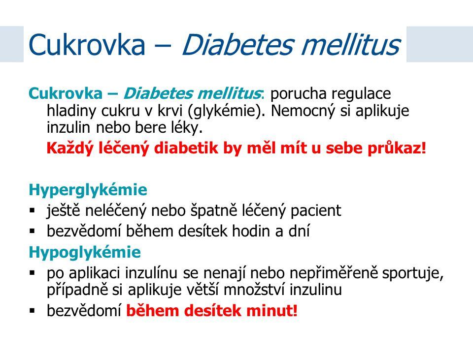 Cukrovka – Diabetes mellitus