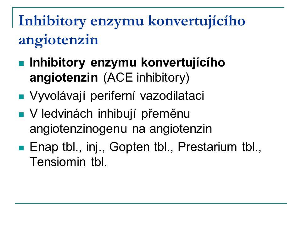 Inhibitory enzymu konvertujícího angiotenzin