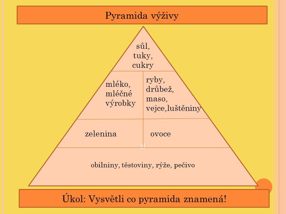 Úkol: Vysvětli co pyramida znamená!