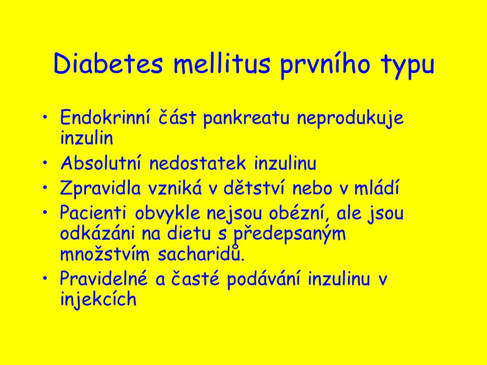 Diabetes mellitus prvního typu