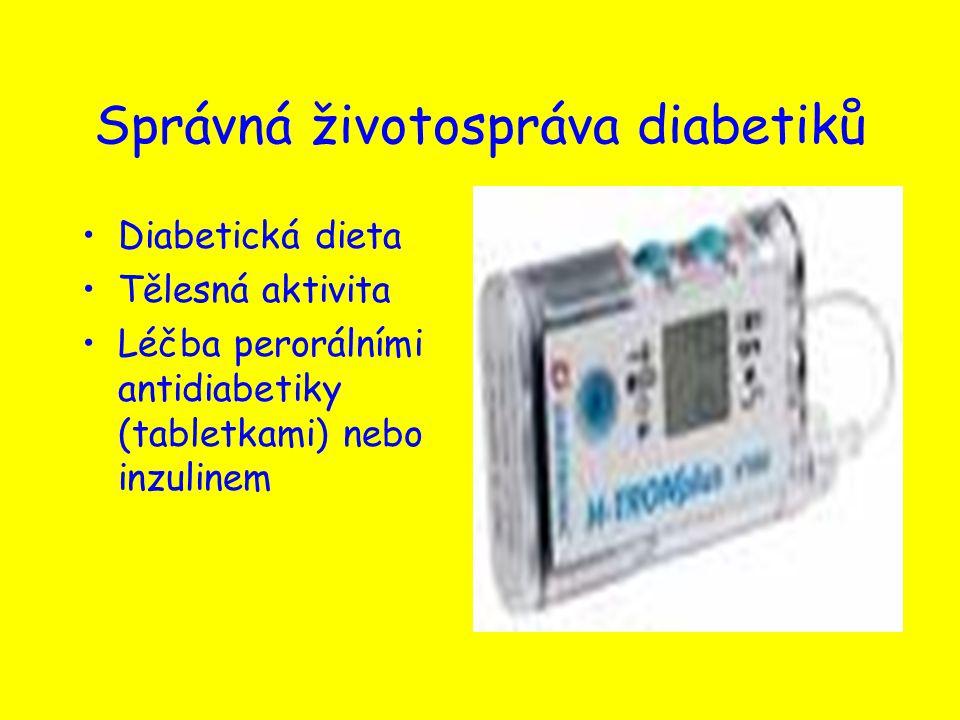 Správná životospráva diabetiků