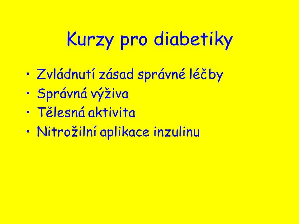 Kurzy pro diabetiky Zvládnutí zásad správné léčby Správná výživa