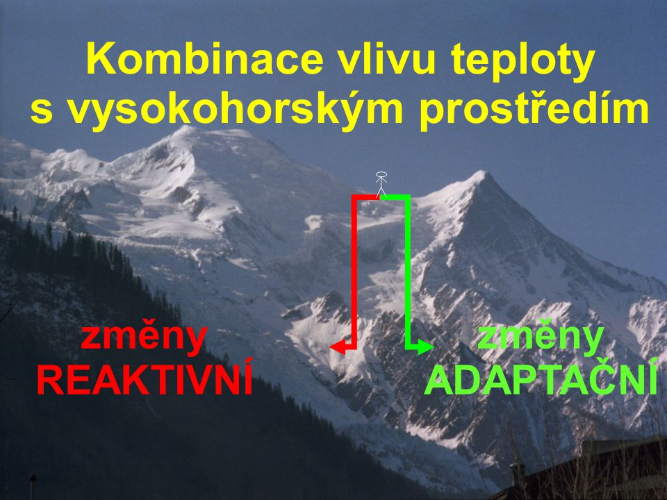 Kombinace vlivu teploty s vysokohorským prostředím