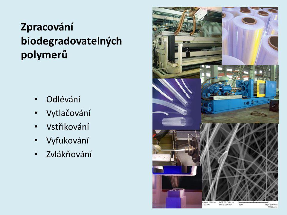 Zpracování biodegradovatelných polymerů