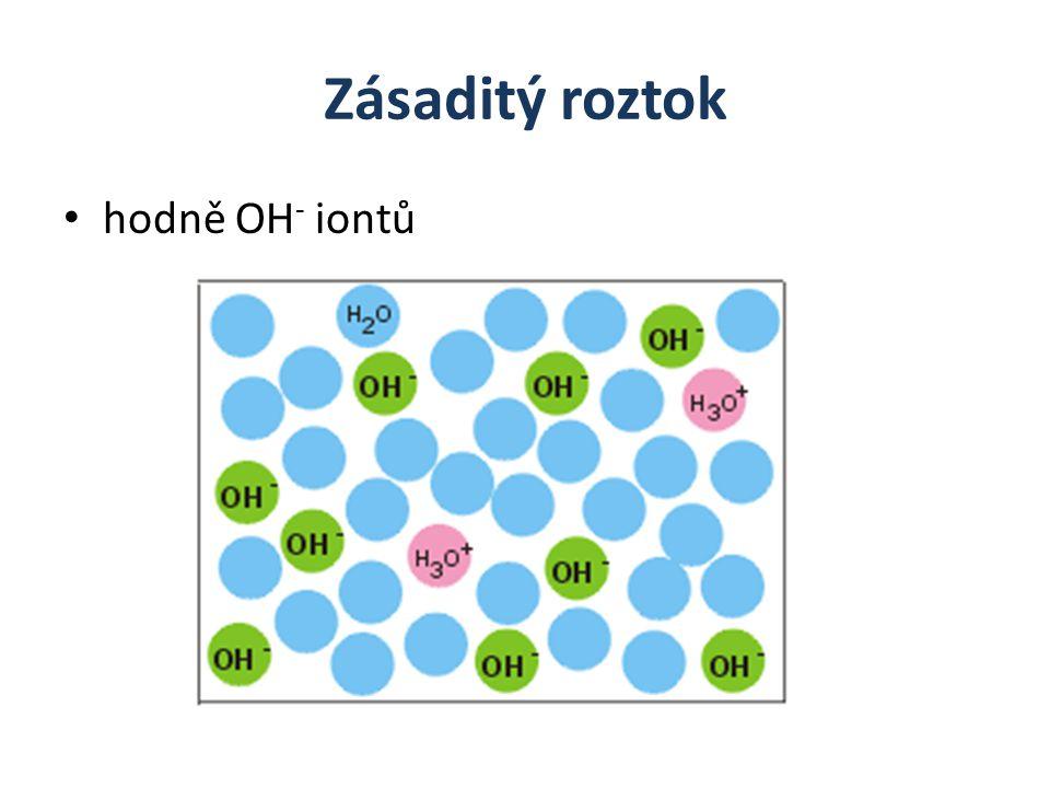 Zásaditý roztok hodně OH- iontů