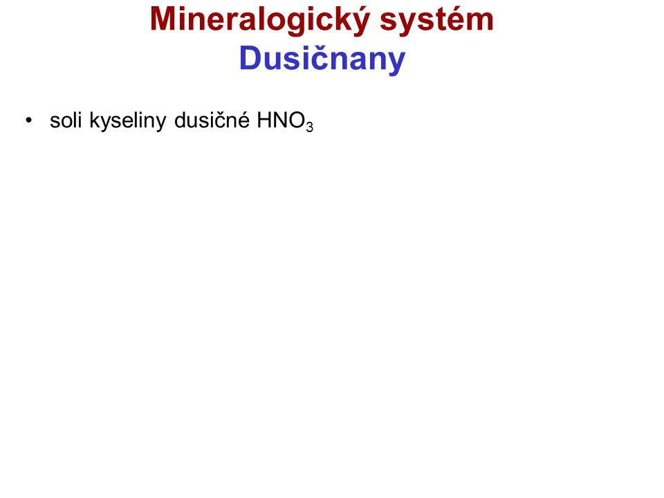 Mineralogický systém Dusičnany