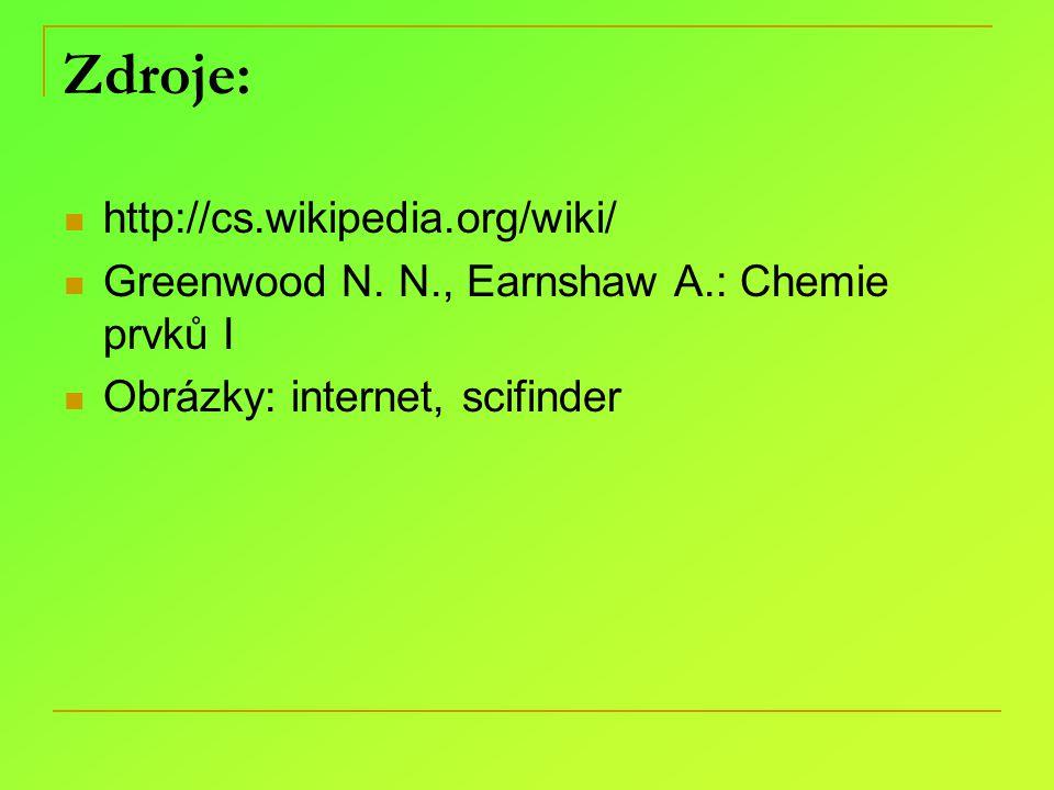 Zdroje: http://cs.wikipedia.org/wiki/