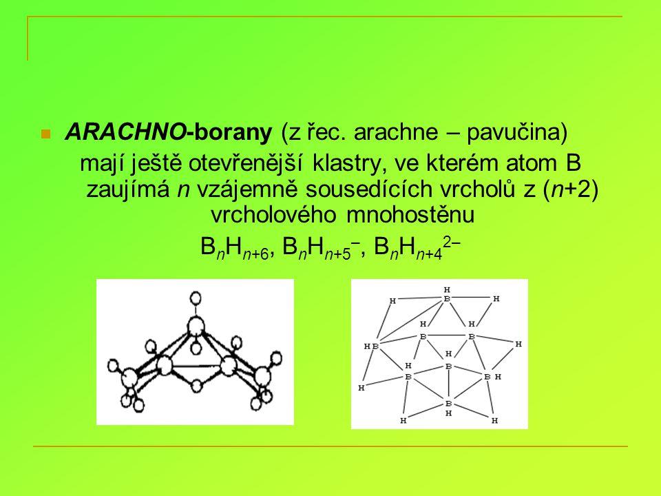 ARACHNO-borany (z řec. arachne – pavučina)