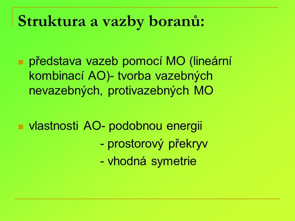 Struktura a vazby boranů: