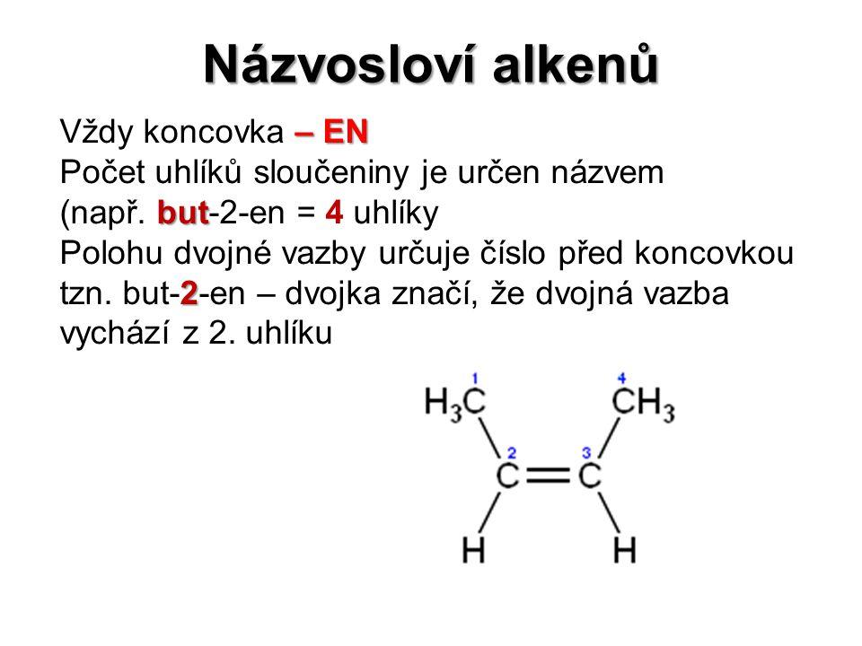 Názvosloví alkenů Vždy koncovka – EN