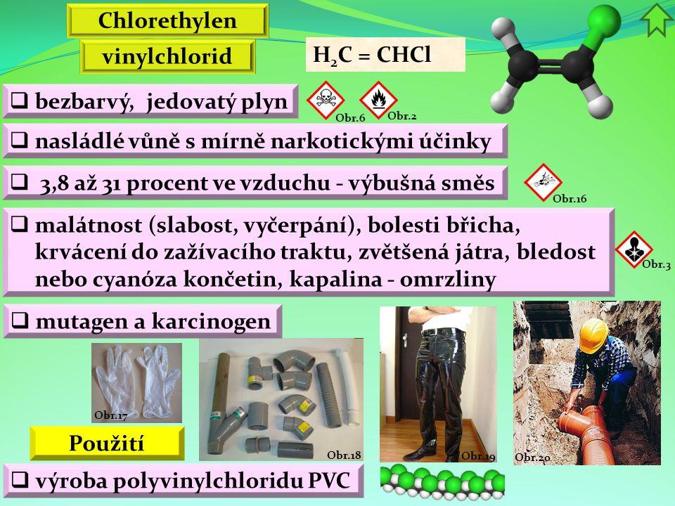 Chlorethylen vinylchlorid Použití