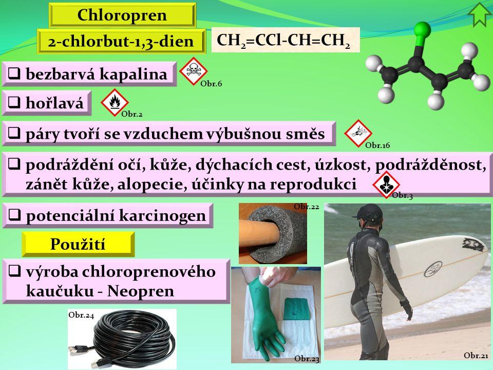 Chloropren 2-chlorbut-1,3-dien Použití
