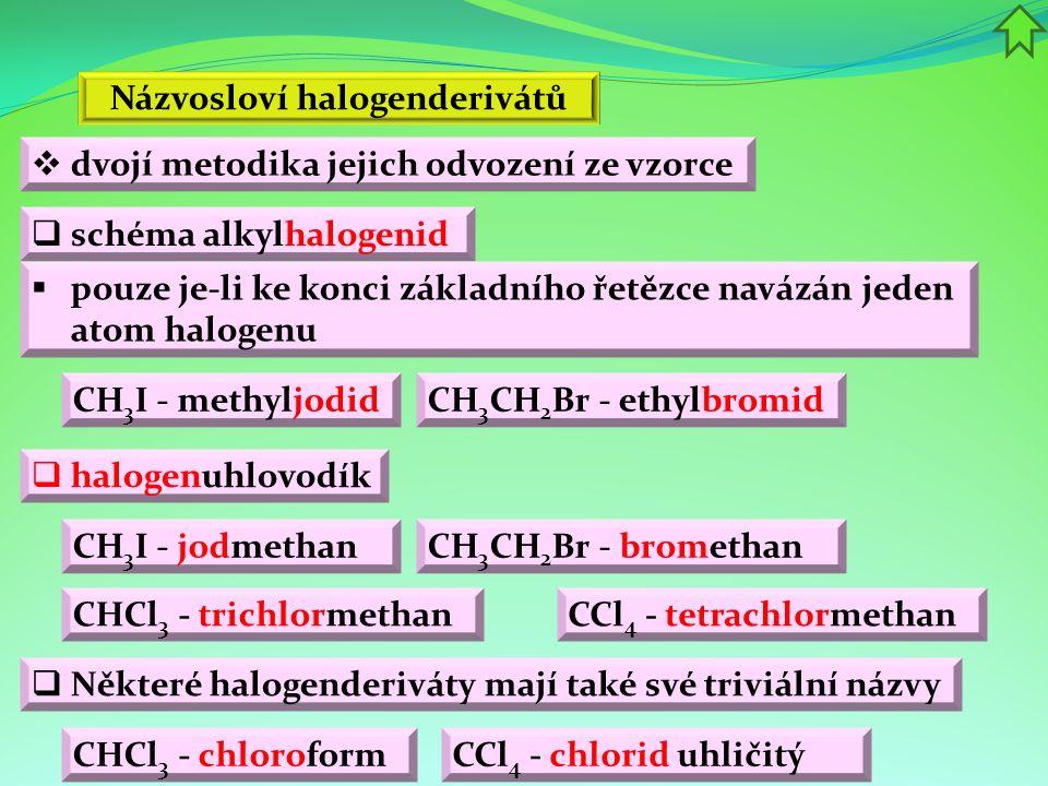 Názvosloví halogenderivátů