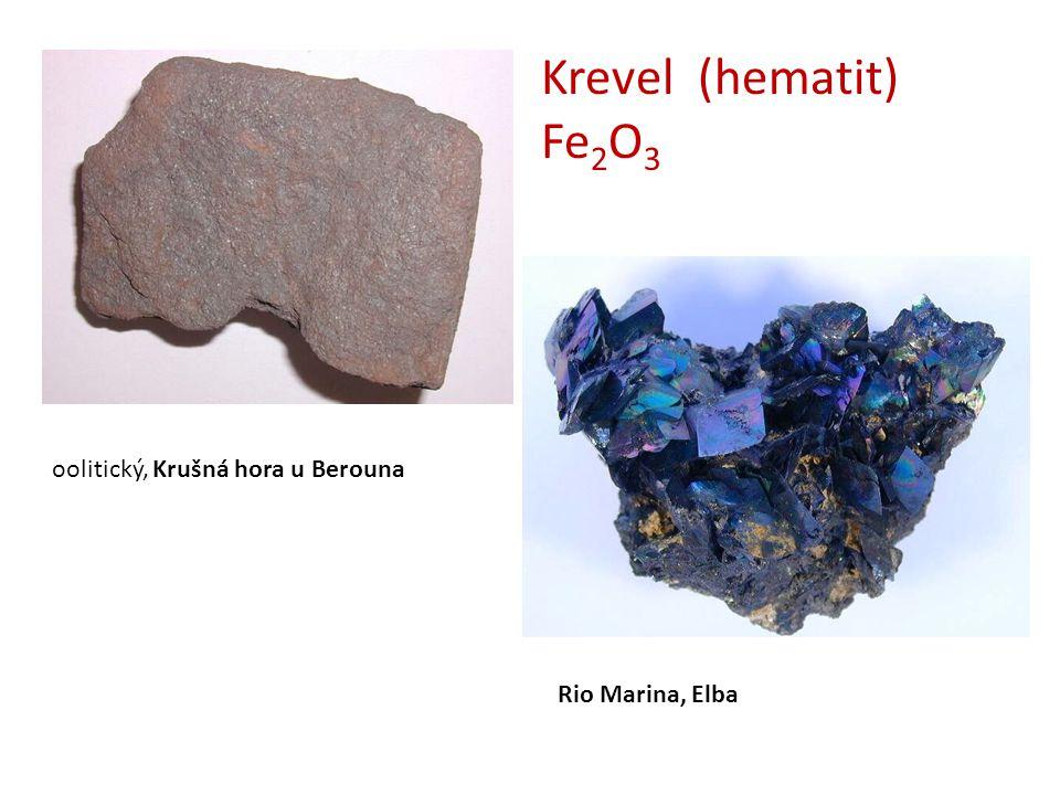 Krevel (hematit) Fe2O3 oolitický, Krušná hora u Berouna