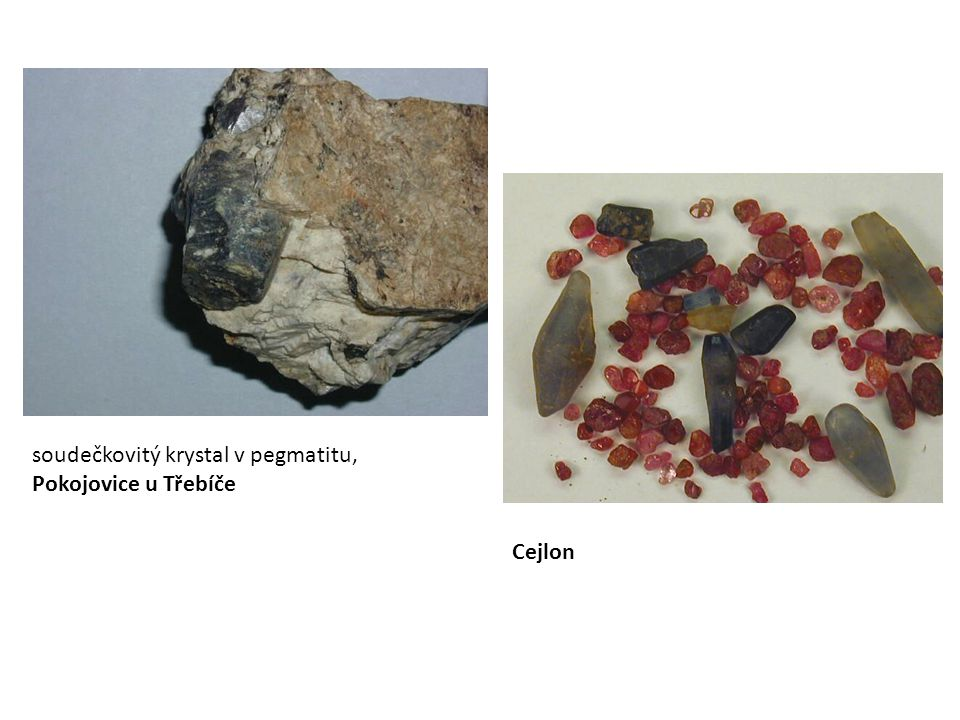 soudečkovitý krystal v pegmatitu, Pokojovice u Třebíče