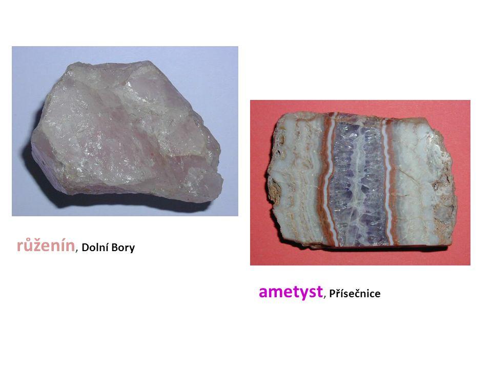 růženín, Dolní Bory ametyst, Přísečnice