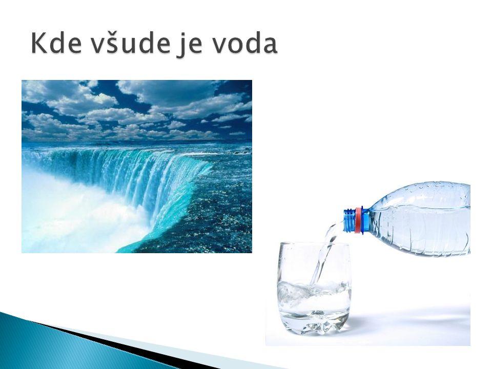 Kde všude je voda