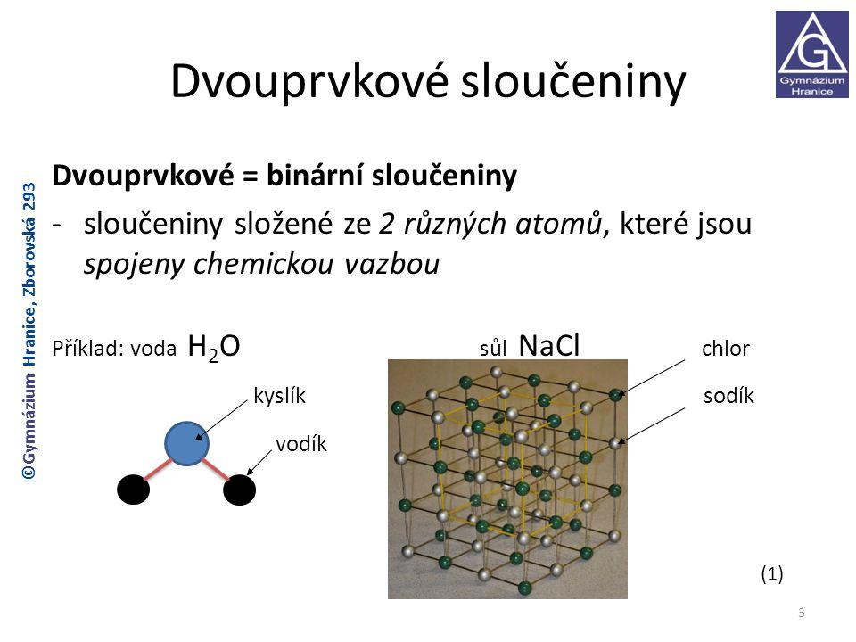 Dvouprvkové sloučeniny