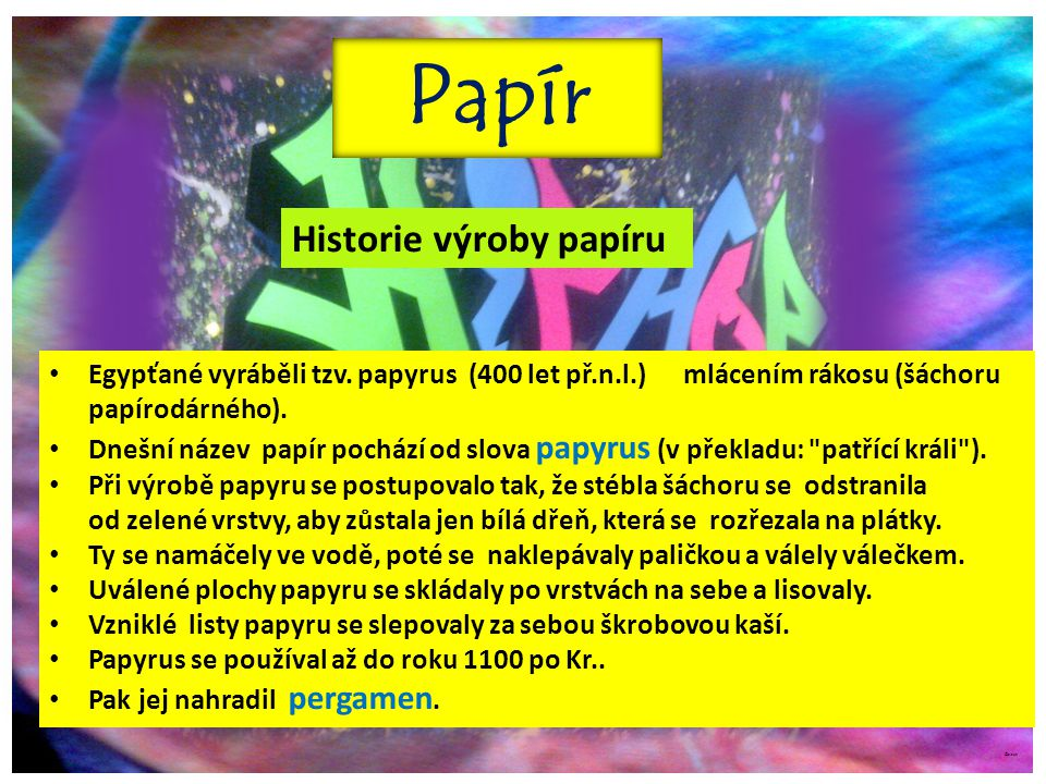 Papír Historie výroby papíru