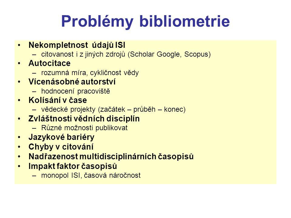 Problémy bibliometrie