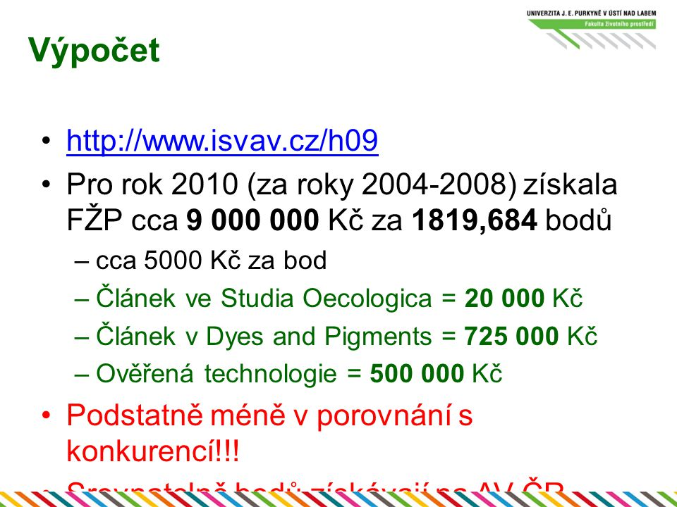 Výpočet http://www.isvav.cz/h09