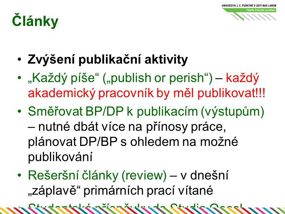 Články Zvýšení publikační aktivity