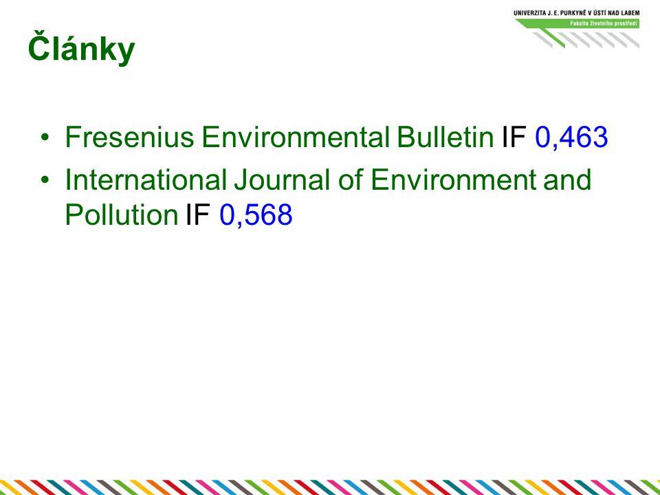 Články Fresenius Environmental Bulletin IF 0,463