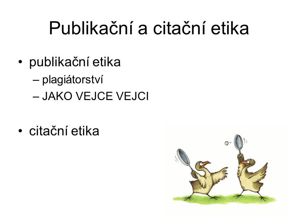 Publikační a citační etika