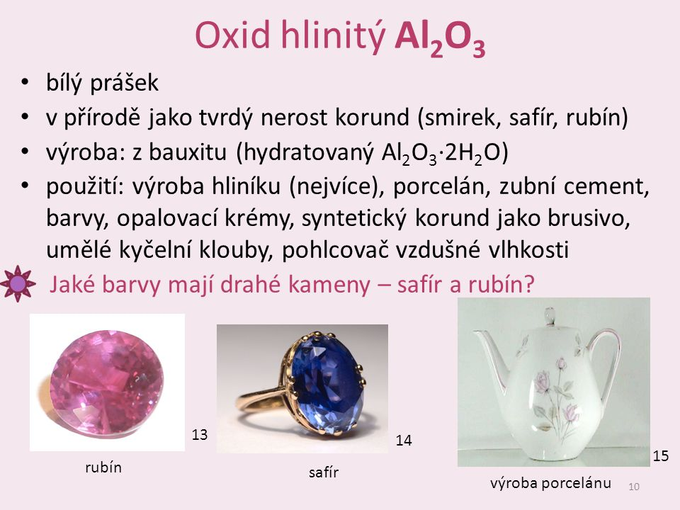 Oxid hlinitý Al2O3 bílý prášek