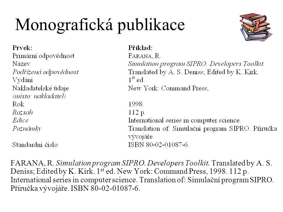 Monografická publikace