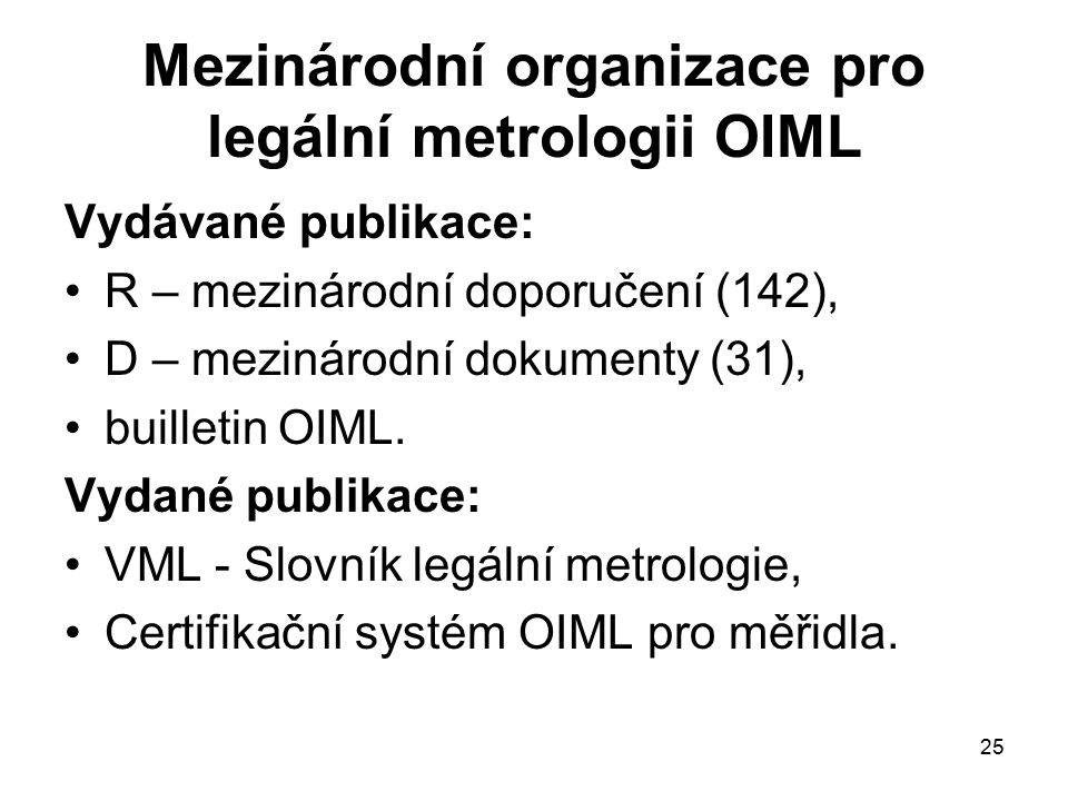 Mezinárodní organizace pro legální metrologii OIML