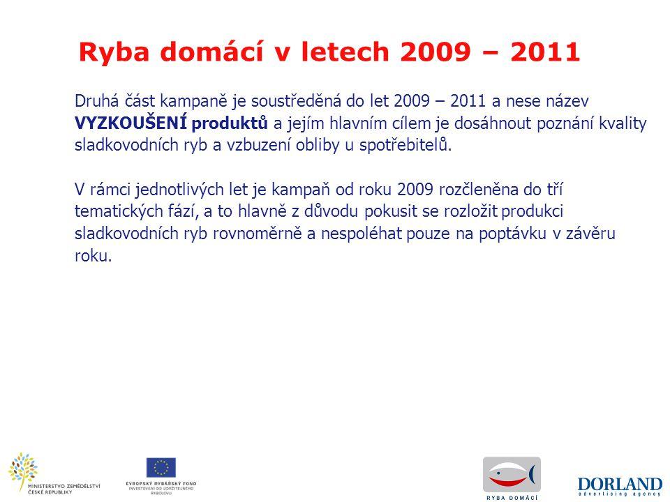 Ryba domácí v letech 2009 – 2011 Druhá část kampaně je soustředěná do let 2009 – 2011 a nese název.
