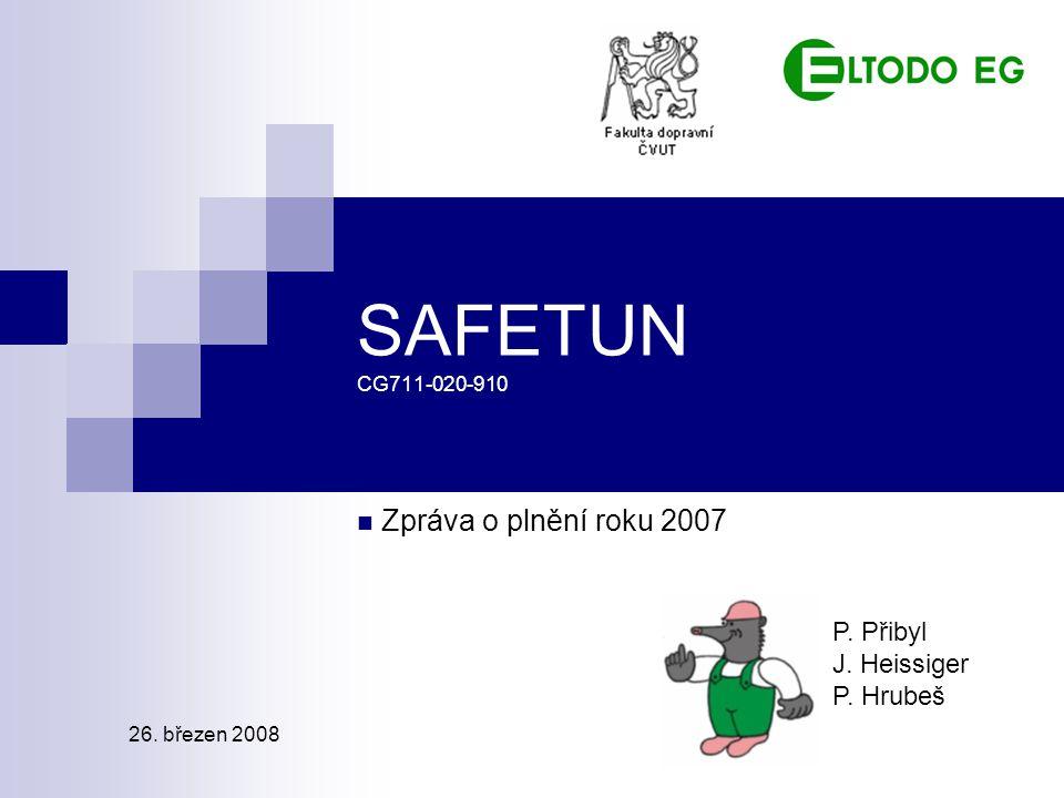 SAFETUN CG711-020-910 Zpráva o plnění roku 2007 P. Přibyl J. Heissiger