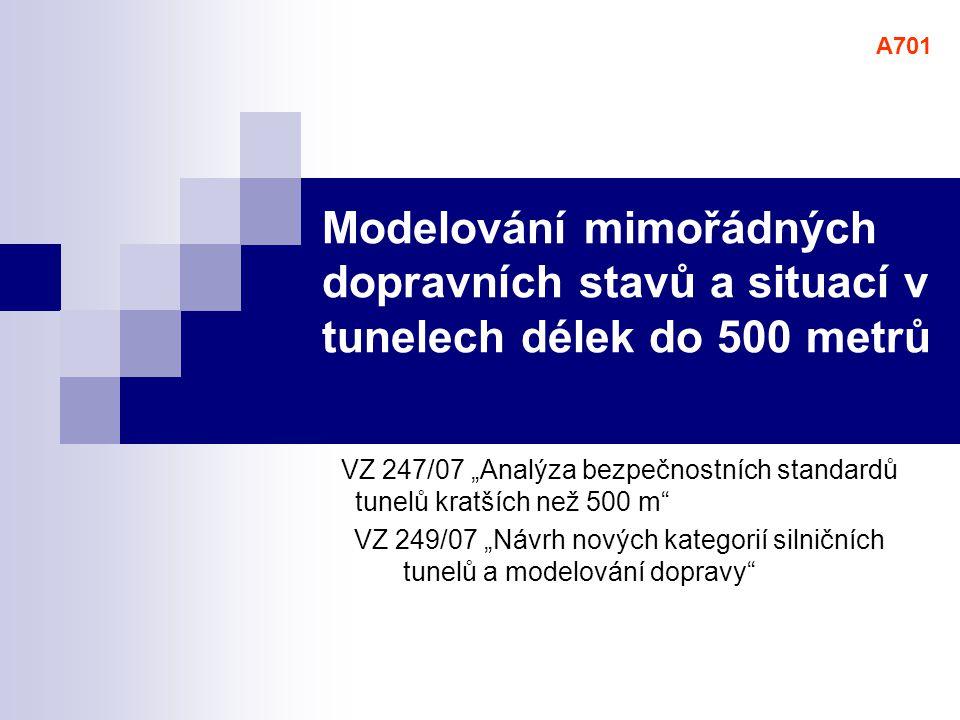 """VZ 247/07 """"Analýza bezpečnostních standardů tunelů kratších než 500 m"""