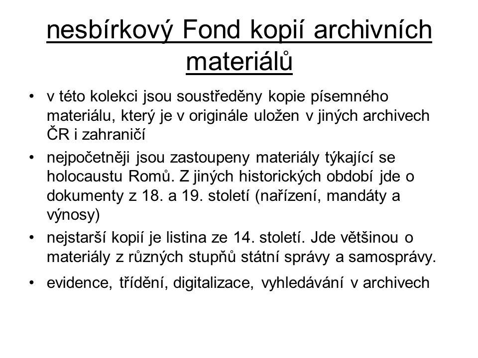 nesbírkový Fond kopií archivních materiálů