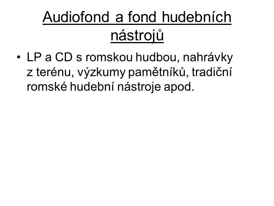 Audiofond a fond hudebních nástrojů