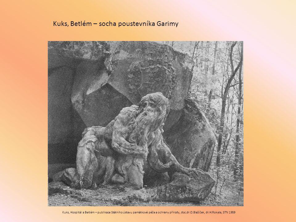 Kuks, Betlém – socha poustevníka Garimy