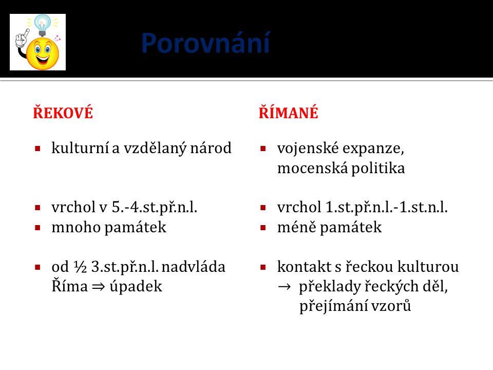Porovnání kulturní a vzdělaný národ vrchol v 5.-4.st.př.n.l.