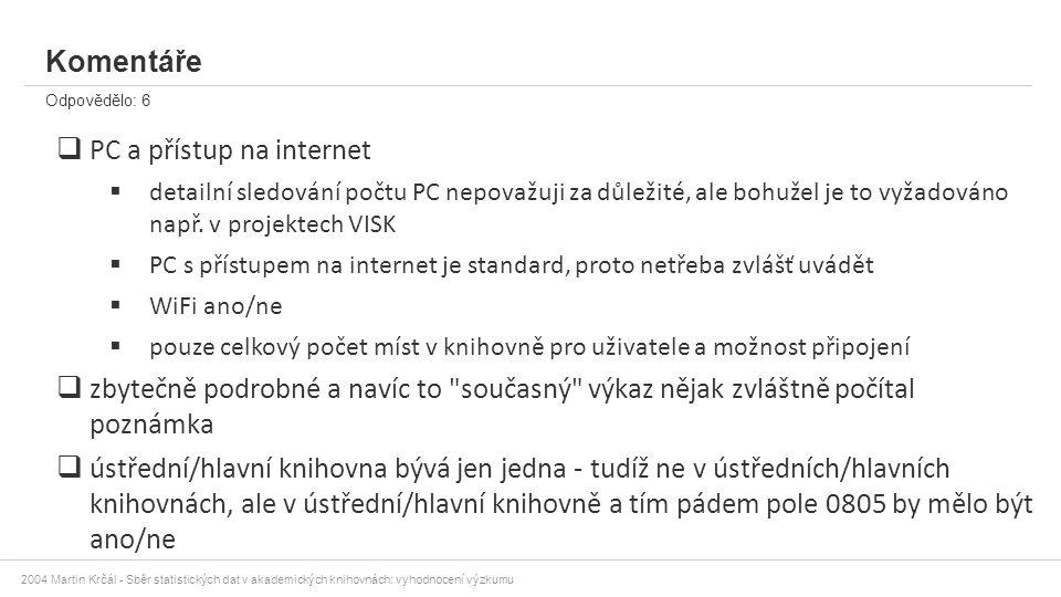 PC a přístup na internet