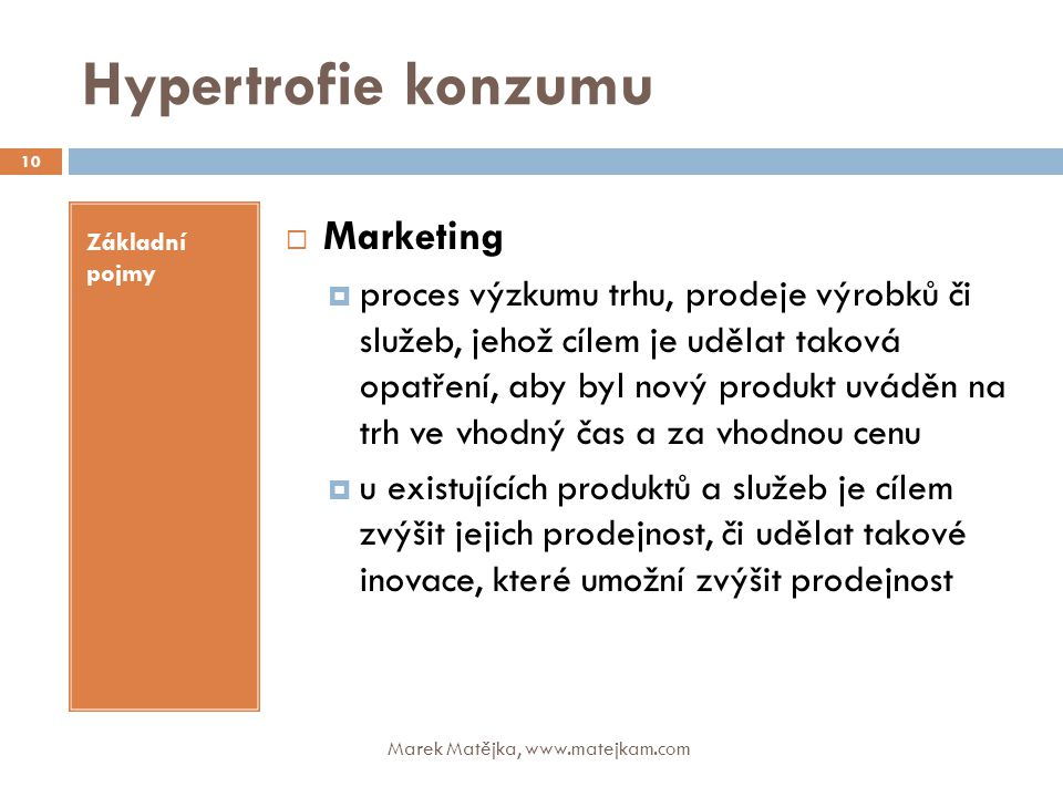 Hypertrofie konzumu Marketing