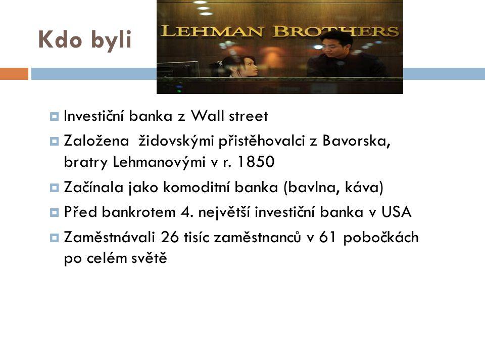 Kdo byli Investiční banka z Wall street