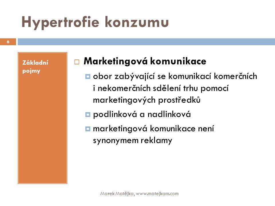 Hypertrofie konzumu Marketingová komunikace