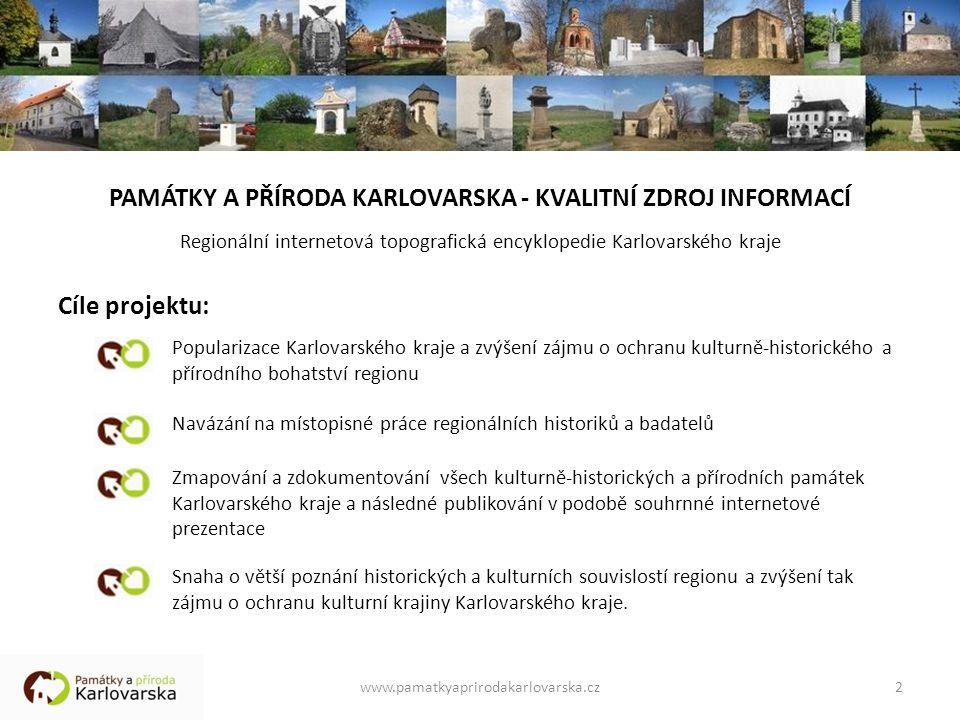 PAMÁTKY A PŘÍRODA KARLOVARSKA - KVALITNÍ ZDROJ INFORMACÍ