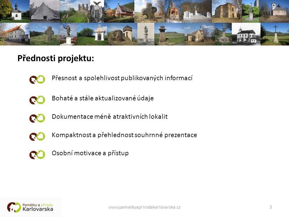 Přednosti projektu: Přesnost a spolehlivost publikovaných informací