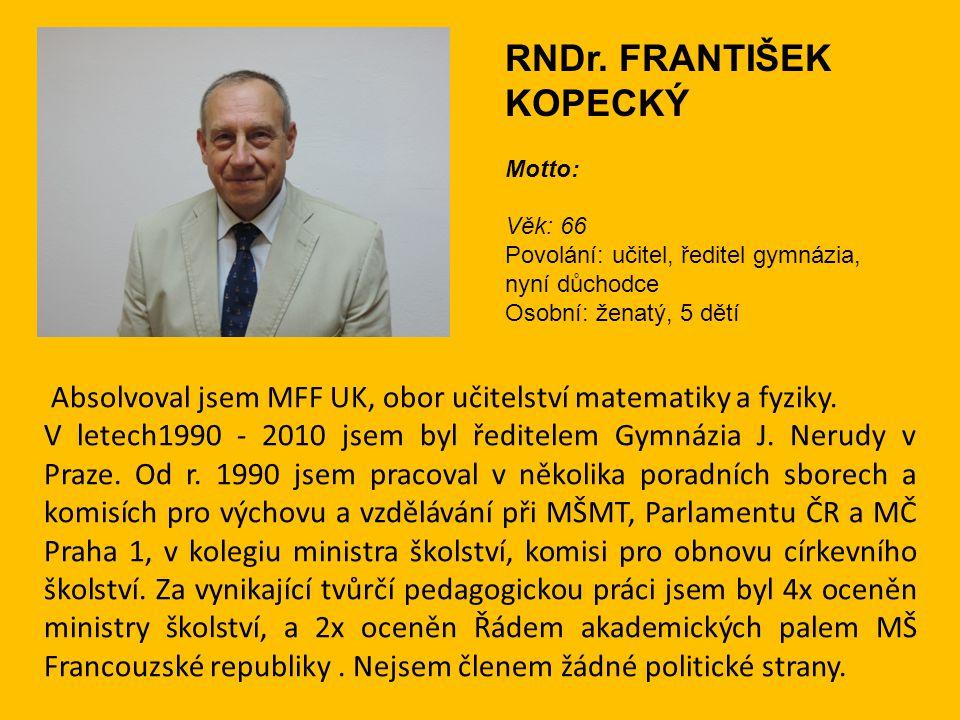 RNDr. FRANTIŠEK KOPECKÝ