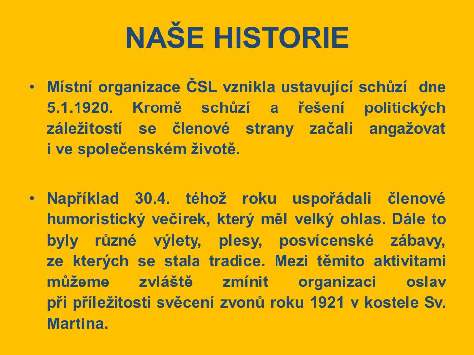 NAŠE HISTORIE