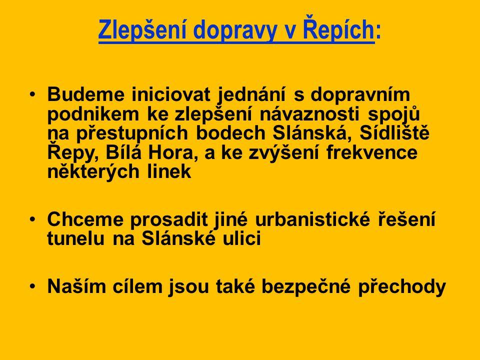 Zlepšení dopravy v Řepích: