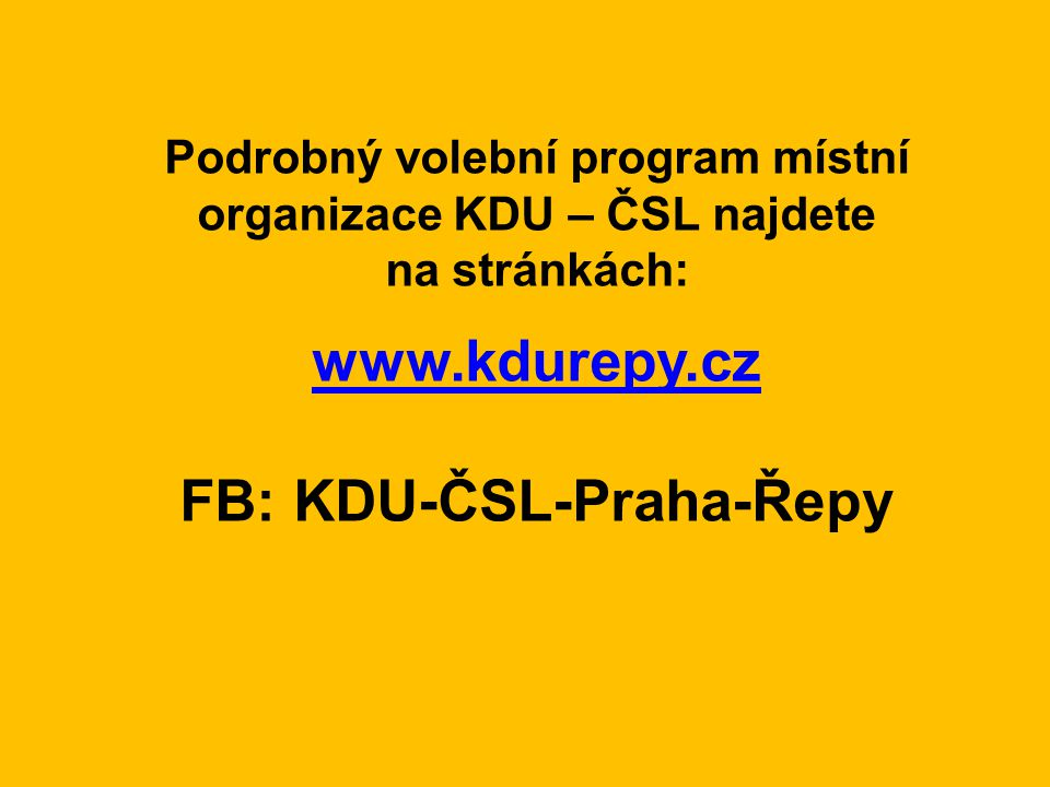 FB: KDU-ČSL-Praha-Řepy